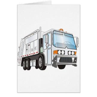 3d Garbage Truck White Card