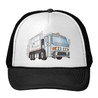 3d Garbage Truck White Trucker Hat
