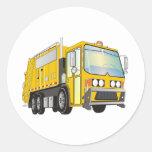 3d Garbage Truck Yellow Sticker