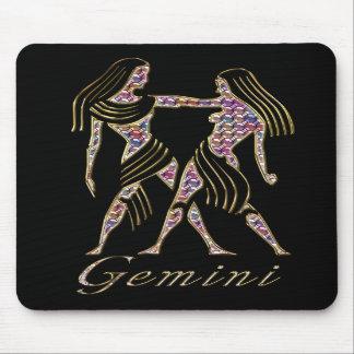 3D Gemini - Zodiac Sign - Astrological Sign Mousepads