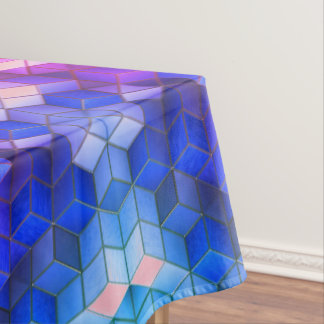 3D Geometric Cube Art Table Cloth
