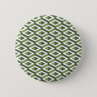 3d geometry greenery and kale 6 cm round badge