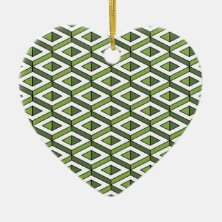 3d geometry greenery and kale ceramic heart decoration