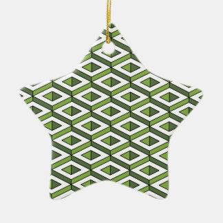 3d geometry greenery and kale ceramic star decoration