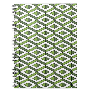 3d geometry greenery and kale notebook