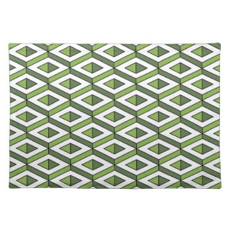 3d geometry greenery and kale placemat