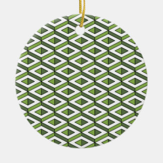 3d geometry greenery and kale round ceramic decoration