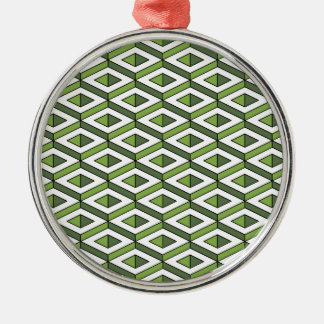 3d geometry greenery and kale Silver-Colored round decoration