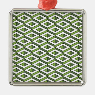 3d geometry greenery and kale Silver-Colored square decoration
