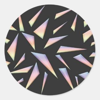 3D Glass Art Sticker Round Sticker