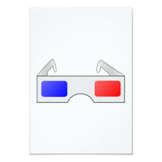 3D Glasses 9 Cm X 13 Cm Invitation Card