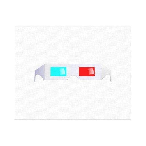 3D Glasses Gallery Wrap Canvas