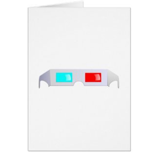 3D Glasses Greeting Cards