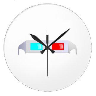 3D Glasses Wall Clocks