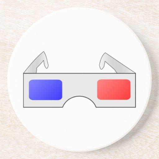 3D Glasses Drink Coaster