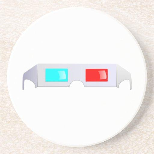 3D Glasses Beverage Coaster