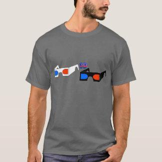 3D Glasses (destroyed gray T) T-Shirt