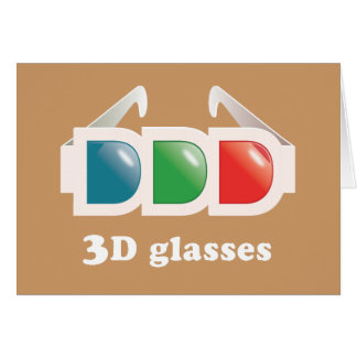 3D Glasses Greeting Card