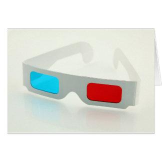 3D Glasses Greeting Card
