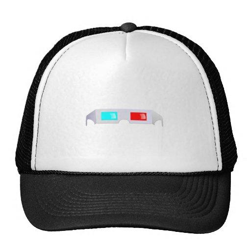 3D Glasses Trucker Hats