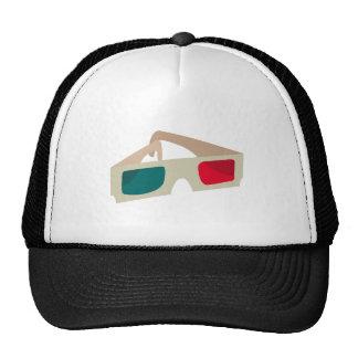 3D Glasses Mesh Hats