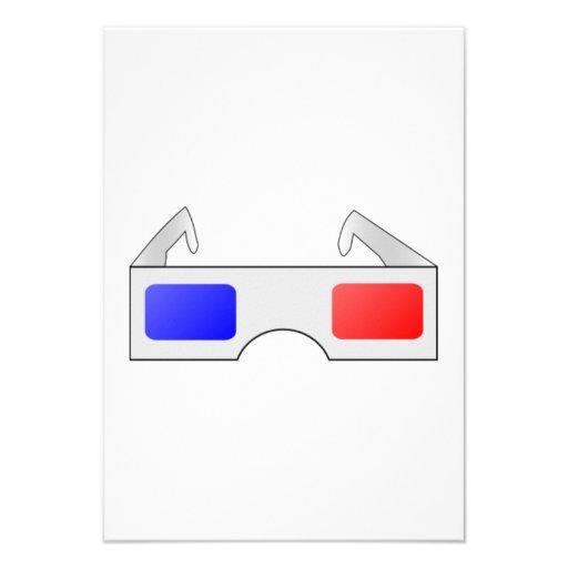 3D Glasses Personalized Invites