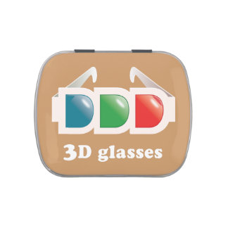 3D glasses Jelly Belly Tins