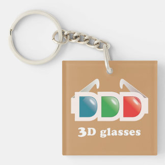 3D Glasses Key Chains