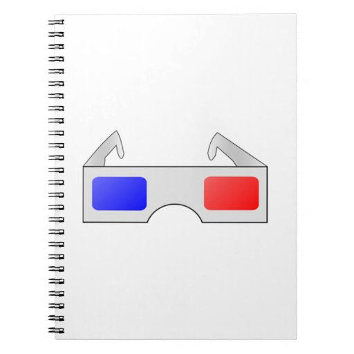 3D Glasses Spiral Notebook