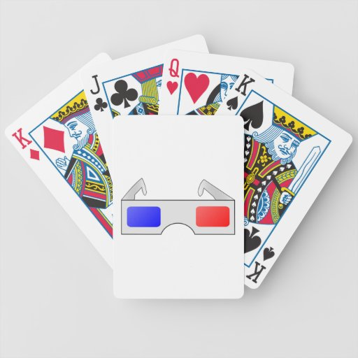 3D Glasses Bicycle Poker Deck