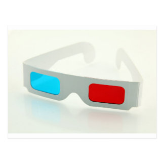 3D Glasses Postcard