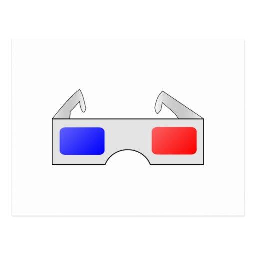 3D Glasses Post Cards
