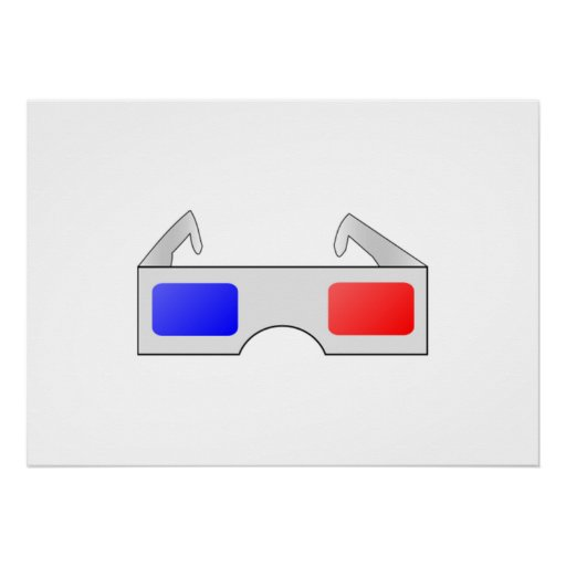 3D Glasses Posters