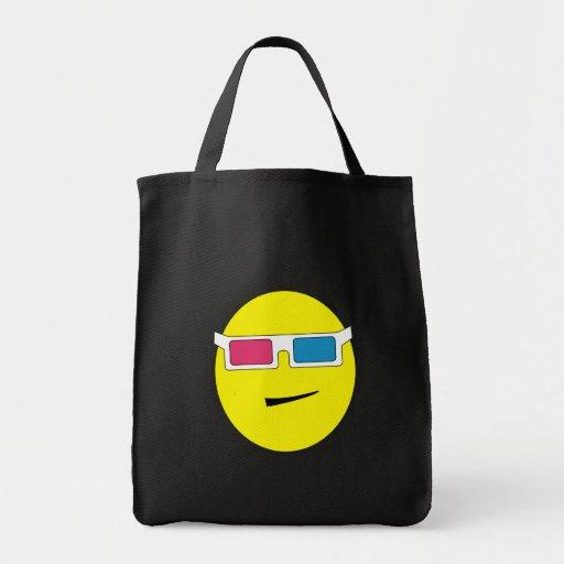 3D Glasses Smiley Bag