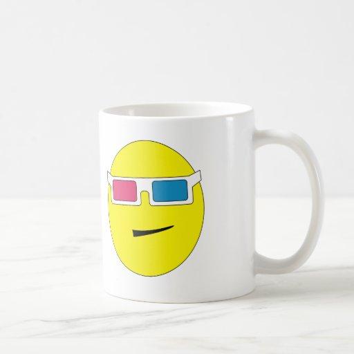 3D Glasses Smiley Mug