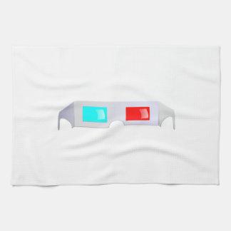 3D Glasses Hand Towels