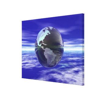 3D Globe 11 Canvas Print