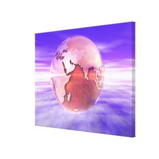 3D Globe 16 Canvas Print