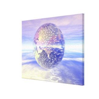 3D Globe 17 Stretched Canvas Print