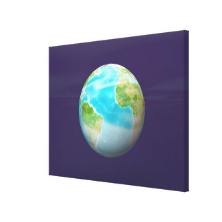 3D Globe 4 Stretched Canvas Print