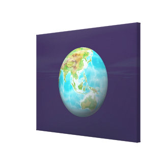 3D Globe 6 Stretched Canvas Print