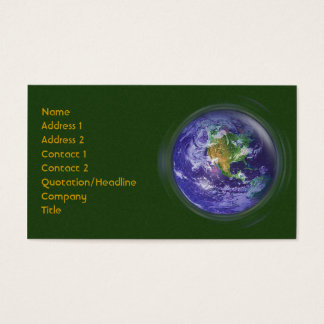 3D Globe Earth Day Business Card