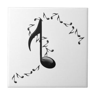 3D Glossy Music Note Tile