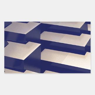 3D Gold Bars Rectangular Sticker