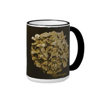 3D Gold Hydrangea Coffee/Tea Mug