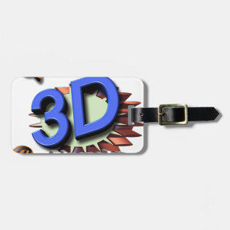 3d grafica luggage tag