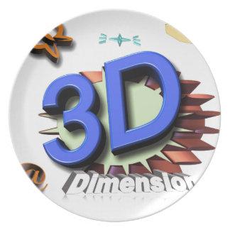 3d grafica party plates