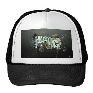 3D graphic text Trucker Hats