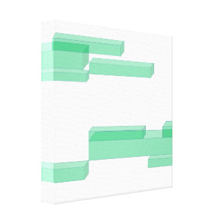3D Green Colorful Rectangular Brick Block Canvas Canvas Prints