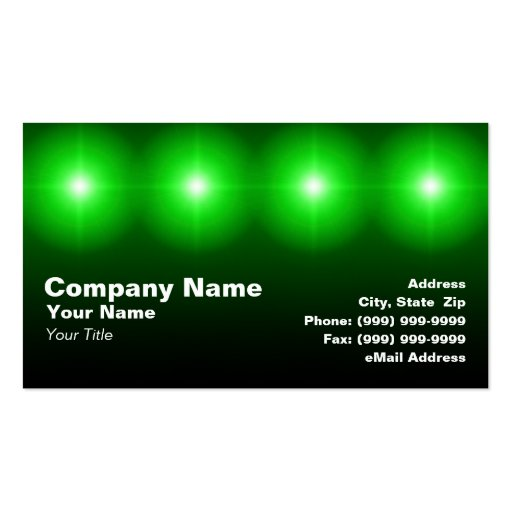 3d green lights zazzle for 3d business card templates